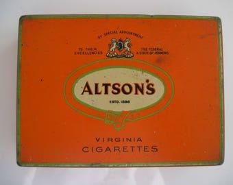 Altson's Special Mild Virginia Cigarette Tin (100/empty)