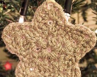 Set of Five Star Tree Decorations