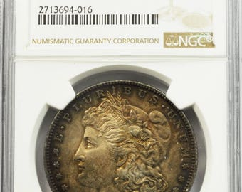 1880 Small O 1 Morgan US Silver Dollar NGC MS62 Uncirculated vam 11a