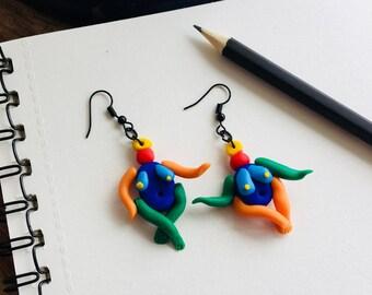 Goddess Earrings - colorful