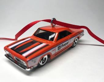 1968 Plymouth Barracuda Hot Wheels Christmas Ornament