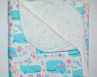Ready to ship! Double flannel blanket- receiving blanket- swaddle blanket- baby shower gift