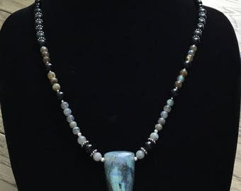 Force Field   ---   Metaphysically Created Necklace with Labradorite Pendant