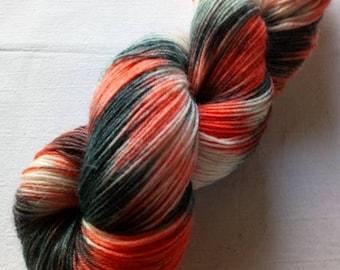 Hangefärbte socks wool in 100g strand