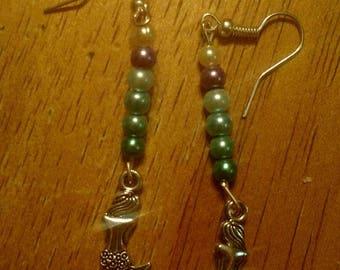 Mermaid dangle earrings