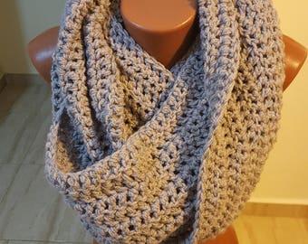 Infinity Scarf / Women Scarf / Grey Scarf / Crochet Scarf / Chunky Scarf / Gift for her / Winter Shawl / Winter Scarf / Handmade Scarf/Scarf