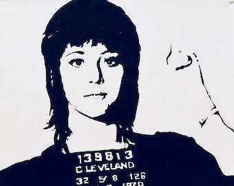 Jane Fonda Mug Shot Painting