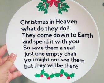 Christmas in heaven plate