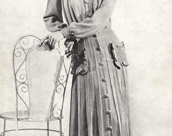 Ladies Long Dressing Gown, Knitting Pattern. Instant Download.