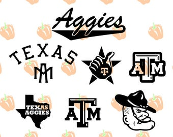 texas aggies SVG file, atm svg files for cricut machines, cricut files, silhouette files, sport logo vector images, instant download svg