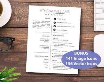 Custom Resume, 2 Page Resume, Resume Template, CV Template, Resume Design,  Modern CV Template, Resume Template Word, CV Modern