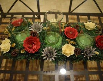 3 Vase Floral Centerpiece
