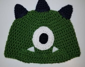 Crochet Monster Hat (Size: Toddler)