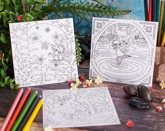 Fairy Pocket Coloring Pages