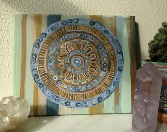 Mandala acrylic painting on canvas