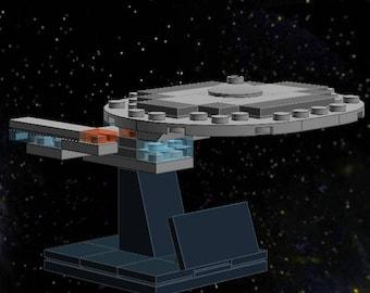 USS Enterprise D - Lego Star Trek - Instructions/Parts List - Files Only