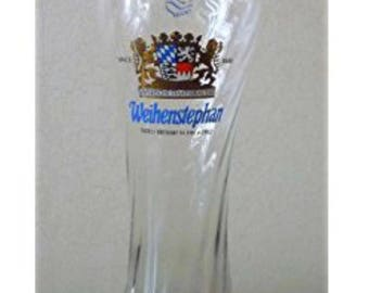 Octoberfest! One set of Ultra Rare Brand New One Pound Glass from the Weihenstephan Brewery, the worlds oldest beer maker.