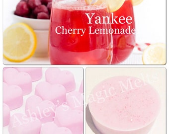 3 cherry lemonade yankee candle wax melts, designer dupe melts, scented gifts, sweet melts, highly scented melts, cheap wax melts