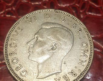 Great Britain florin two shillings 1943 George V silver