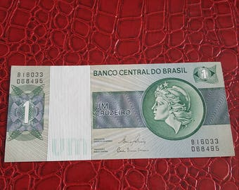 Brazil 1 Cruzeiro Banco Central Do Brasil Crisp Uncirculated Banknote Currency