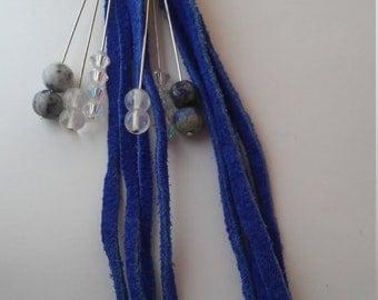 Blue Suede & Crystals