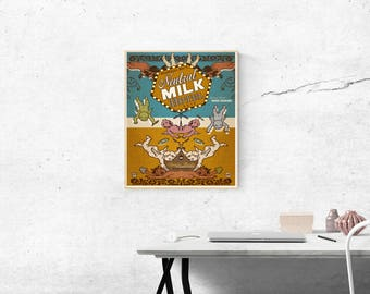 Neutral Milk Hotel Graphic Band Poster Concert Ad