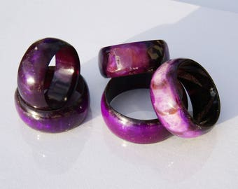Salvaged Cow Horn Bangle - Purple