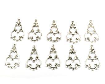 Lot 10 in-between chandelier silver 32 mm