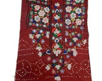 Vintage Banjara Handmade Embroidered Wall Hanging Tribal Gypsy Yoke Neck Craft Sewing