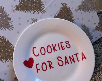 Cookies for Santa plate