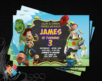 toy story invitation - Personalized Invitation - Custom Birthday - Printables Invitation - Digital file Download