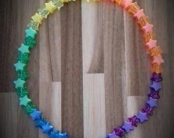 Children's Necklace - Rainbow Starburst