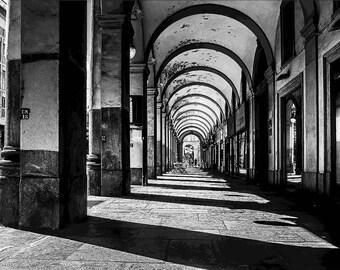 Fine Art Print Color-frames on the way-Portici di Torino