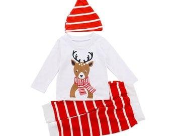 Reindeer Pyjamas Set
