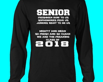 Mighty And Mean-class Of 2018 Long Sleeve Shirts
