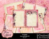 Free Spirit JournalNotes Kit, 5x7 Printable Journal,  Digital Journal Kit, Writing Journal, Writing Pages