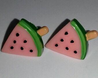 Melon stud earrings