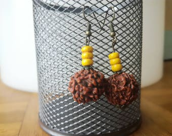 Earrings seeds and beads