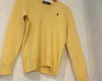 Yellow Polo Ralph Lauren sweater