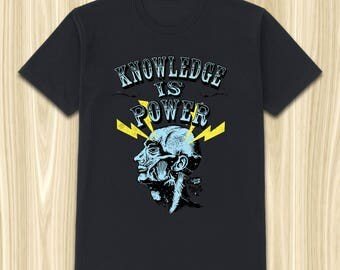 Knowledge is Power T-Shirt | Cutton T-Shirt