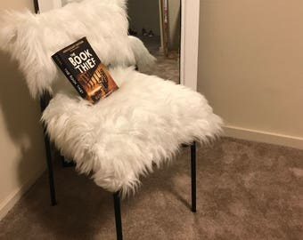 White/Black Faux Fur Chair