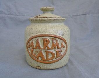 tremar pottery marmalade jar