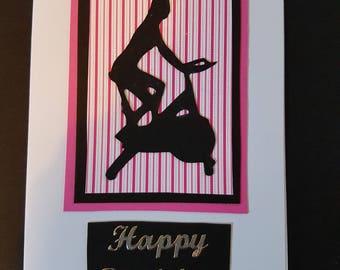 Handmade gym themed birthday card