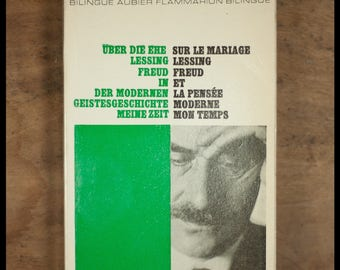 Thomas MANN / modern thought of my time / Edition bilingual sapwood Flammarion / German-French / 1970
