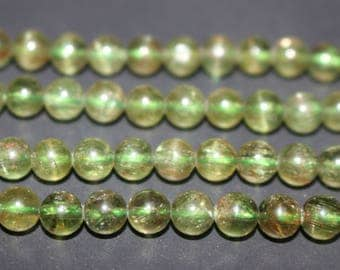 15 Inches Full strand,Natural Green Apatite Gemstone Smooth Round Beads 6mm beads,loose beads,semi-precious stone