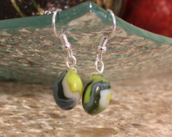 Small Lime Green Earrings // Hypoallergenic //Nickel Free