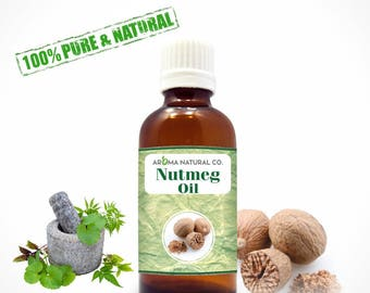 Nutmeg Essential Oil Pure & Natural For Aromatherapy