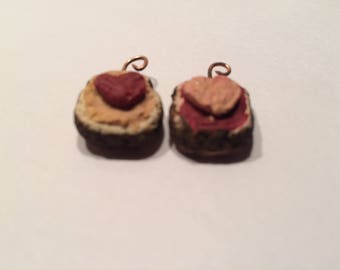 peanut butter and jelly friend ship sandwiches bff pendants with crust