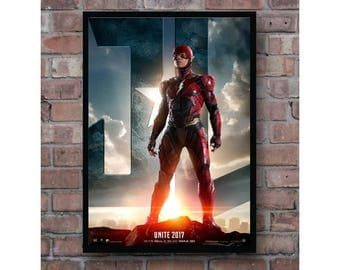 Justice League The Flash movie poster dc superheroes Home Decor Poster