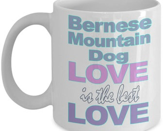 Bernese Mountain Dog Mug – Bernese Mountain Dog Gifts - Dog Lover Mom Dad Owner - Black White Coffee Tea Cup 11oz 15oz